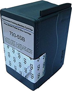 DM100i / DM100 / DM125i / DM150i / DM160i / DM175i / DM200i / DM220i / P720 Series Pitney Bowes Replacement Smart BLUE 793-5SB Franking Ink Cartridge