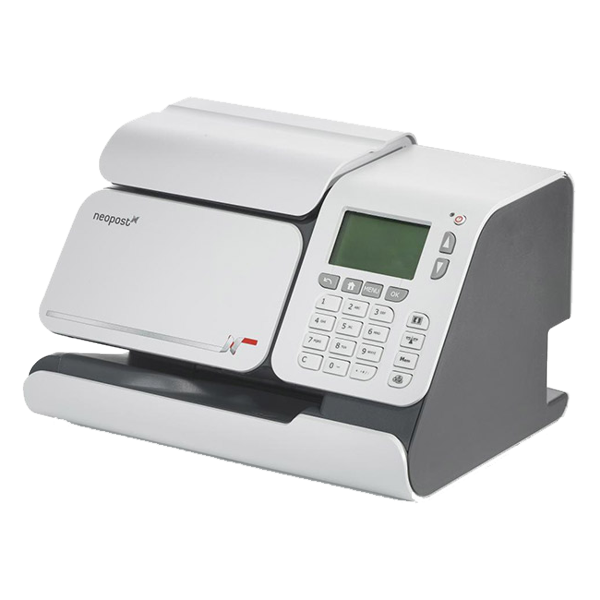 It's just a graphic of Candid Neopost Labels Franking Machine